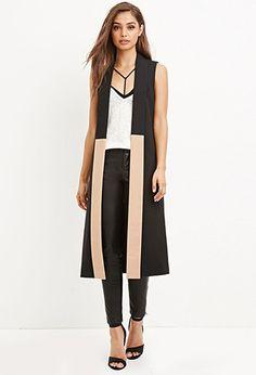 Colorblocked Longline Vest | Forever 21 - 2000179471