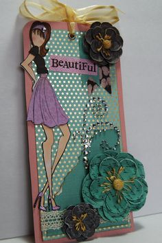 Prima Doll Tag Beautiful Handmade Paper Tag for a by Smiles4Paper