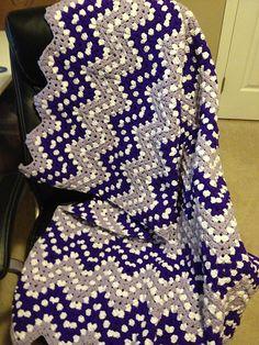 Ripple Waves Baby Blanket Crochet Pattern #crochetideas #crochetlove Download free pattern in PDF!
