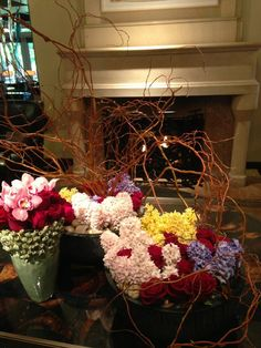 Breakfast, flowers and fire @Four Seasons Hotel Austin on this unseasonably chilly day! (photo by @katie_kime)
