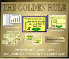 """FREE Golden Rule, Lesson Plans and Materials from ThematicTeacher on TeachersNotebook.com (28 pages)  - The Golden Rule, """"Treat others as you want them to treat you,"""" has been a standard of behavior in societies around the world for thousands of years.  This set of lesson plans and materials will help your students identify and practice this impor"""