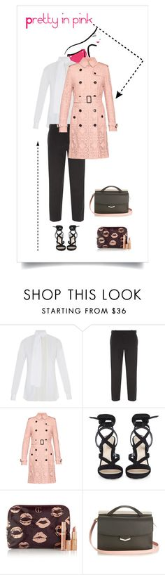 """""""Pretty in pink #pasteltrenches"""" by lorihopes on Polyvore featuring Valentino, Balenciaga, Burberry, Gianvito Rossi, Charlotte Tilbury, Fendi, women's clothing, women, female and woman"""