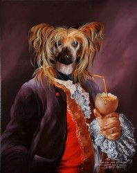 Animal society by Sylvia Karle Marquet - Beauty will save Weird Pictures, Animal Pictures, Animal Society, Tribal Women, Vanitas, French Artists, Pet Clothes, Dog Art, Pet Portraits