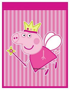 Princess Peppa Pig Party, Happy Birthday Princess, Peppa Pig Wallpaper, Peppa Pig Imagenes, Cumple Peppa Pig, Birthday Template, Disney And More, Baby Party, Childrens Party
