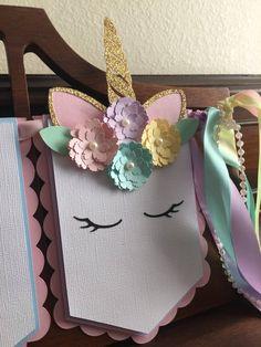 Unicorn Diy, Unicorn Banner, Unicorn Baby Shower, Unicorn Crafts, Unicorn Birthday Parties, Girl Birthday, Party Themes, Party Ideas, First Birthdays