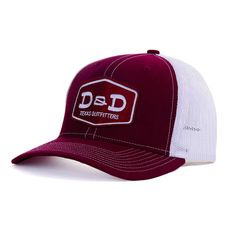 da516d16ee1 D   Amp   D Texas Outfitters Maroon And White Cap