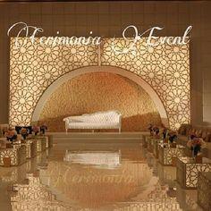 Reception Stage Decor, Wedding Reception Backdrop, Wedding Stage Decorations, Event Decor, Wedding Stage Design, Church Stage Design, Luxury Wedding Decor, Moroccan Wedding, Luminaire Design