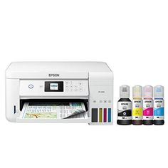 Epson EcoTank Wireless Color All-in-One Cartridge-Free Supertank Printer with Scanner and Copier Epson Epson Ecotank Printer, Inkjet Printer, Best Printer Scanner, Best Printers, Office Printers, Paper Tray, Epson Ink, Thing 1, Nebraska Furniture Mart