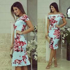 Vestido, floral, justinho, elegante, Ariane Canovas.