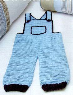 Crochet Baby : Jardineira de crochet para bebê!