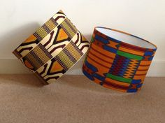 These bold African Print lampshades make a unique statement to any room. Handmade to order by my own fair hands. It can be used for table and floor lamps as well as ceiling pendants.   30cm in diameter, lamp base not included.  Matching items are also available in my Etsy shop.