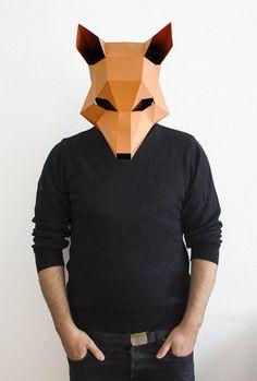 Make your own Fox Mask, Animal Head, Fantastic Mr. Fox,Instan... More