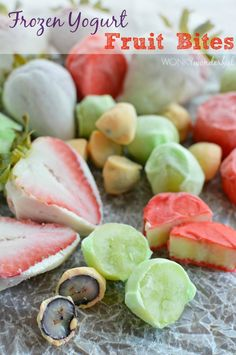 Frozen Yogurt Fruit Bites : Healthy Summer Dessert Recipe