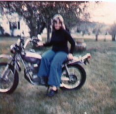 rose as a blond for a short time i had a motorcycle to.