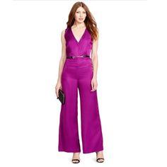 Ralph Lauren wide leg purple jumpsuit *new* New with tags jumpsuit! Belt is not included! Size 2 Ralph Lauren Pants Jumpsuits & Rompers