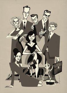 "Jonas Bergstrand ~ Julianna Margulies, Chris Noth, Josh Charles, Christine Baranski, Matt Czuchry, Archie Panjabi, and Alan Cumming in ""The Good Wife"""