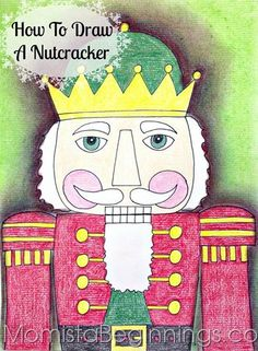 In celebration of the holiday season upon us, I had my 2nd graders draw a nutcracker in my art class. Here are the steps we followed. Note that, of course, there are variations along the way. My st…