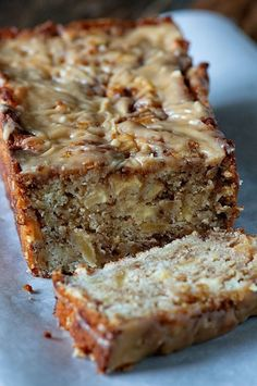 Salted Caramel Apple Fritter Bread ~ one of your favorite fritters in quick bread form, made even better with salted caramel. Your whole family will love it! Apple Fritter Bread, Apple Bread, Apple Fritters, Fruit Bread, Dessert Bread, Bread Cake, Pie Cake, Breakfast Recipes, Dessert Recipes