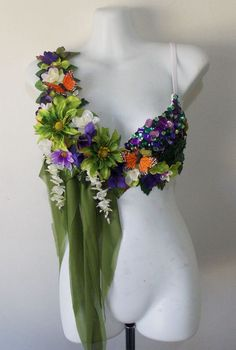 Garden Fairy Rave Bra by RevoltCouture on Etsy, $80.00