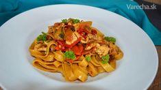 Šťavnaté tagliatelle s kuracím mäsom a farebnou zeleninou (fotorecept) - Recept