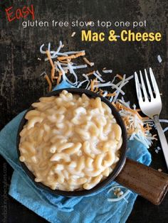 You're only minutes away from enjoying this Easy Gluten Free Stove Top One Pot Macaroni and Cheese. Throw all the ingredients in a pot, let it simmer, and before you know it, you will be enjoying the creamiest mac and cheese.