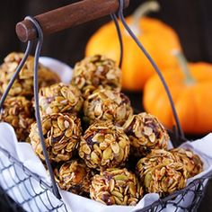 "Pumpkin No-Bake Energy Bites ~ quick, healthy, and SO tasty!! A perfect ""on-the-go"" breakfast or snack!"