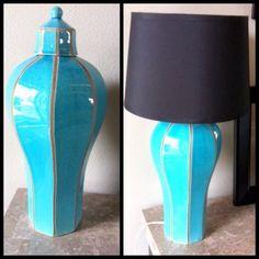 repurpose vase to lamp | Found on chaosandgloss.com