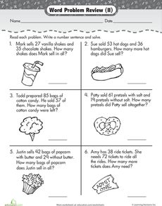 Free Printable Worksheets for Second-Grade Math Word Problems ...