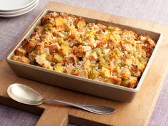 this is seriously my favorite stuffing recipe!  Three-Bread Stuffing from FoodNetwork.com