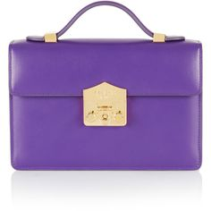 Rubeus Milano Small Flash Natale Bag (3,935 BAM) ❤ liked on Polyvore featuring bags, handbags, purple, top handle bags, purple handbags, purple purse, purple bags and top handle handbags
