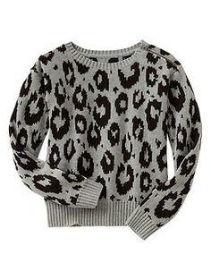 Leopard jacquard sweater. I've always loved the Gap.