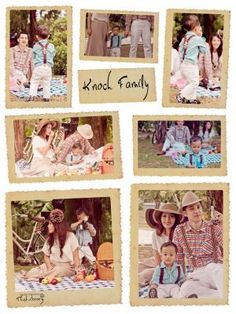 Vintage family picnic pictures