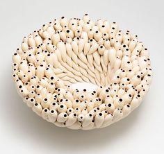 Peter Hoogeboom Piece: Polyamphora cruentata 2013 Fused ceramics 29 x 29 x 12.5