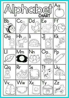 Free Alphabet And Letter Sounds Charts Color And Black And White. They Would Be Great In Student Writing Folders, Classroom Writing Center Or Sent Home For Additional Practice. Kindergarten Literacy, Preschool Kindergarten, Preschool Learning, Student Writing Folders, Letter Sounds, Alphabet Sounds, Initial Sounds, Alphabet Activities, Preschool Alphabet