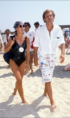 Caroline and Stefano vacationed in St. Tropez circa 1988. Photo: Getty Images