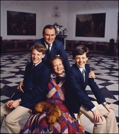 lineofsuccession:  Prince Joachim, Prince Henrik, Crown Prince Frederik and Queen Margrethe of Denmark