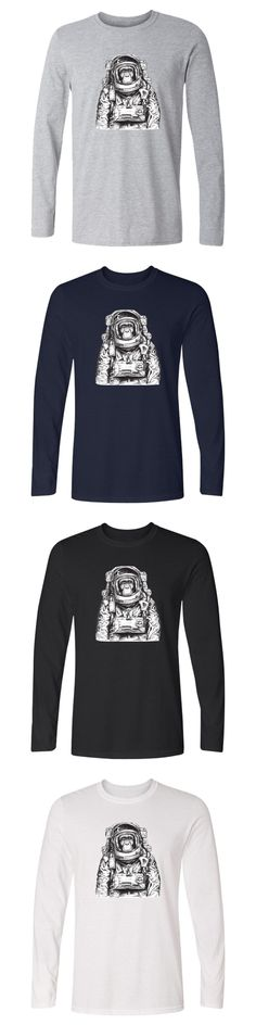 Space Orangutan Logo T Shirt With Long Sleeve Casual Cotton Men And Space Orangutan Long Sleeve Tee Shirt Women Clothes 4XL