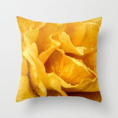 Outdoor Throw Pillow made from weather- and fade-resistant   Yellow Drops  | Loredana | Society6