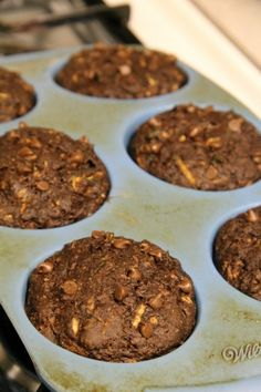 chocolate zucchini muffins -- healthy enough for breakfast, and delicious enough for dessert!