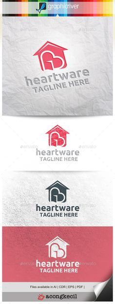 HeartWare by acongkecil HeartWare  Logo Template Suitable for : Company Logo, Business, Office, Studio, organization or your product name, etc. Descript