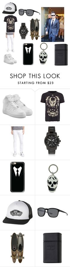 """Nathan Sykes"" by smejko59 ❤ liked on Polyvore featuring NIKE, Alexander McQueen, 7 For All Mankind, River Island, Casetify, Vans, Oakley, Globe, Acqua di Parma and Sykes"