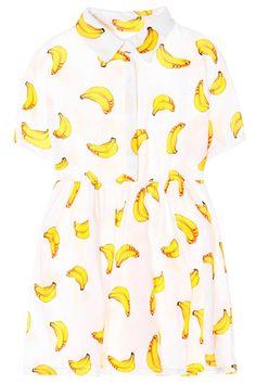 banana dress| free shipping!  kawaii harajuku pastel grunge grunge space grunge fachin dress top button up shirt dress banana fruit food sweets under20 under30 free shipping zaful