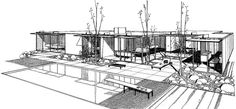 Case Study House #18B / Fields House / Craig Ellwood / 1958 / Today remodeled beyond recognition /