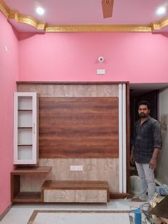 Living Room Partition Design, Pooja Room Door Design, Room Partition Designs, Wall Unit Designs, Living Room Tv Unit Designs, Tv Unit Furniture Design, Bedroom Furniture Design, Lcd Wall Design, Modern Tv Wall Units