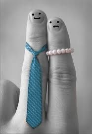 Mr. & Mrs. finger people