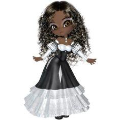 Photo Sculpture Magnet -African American Princess