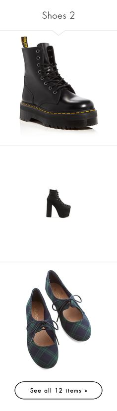 """Shoes 2"" by tessa-moon ❤ liked on Polyvore featuring shoes, boots, ankle booties, shoes - boots, black, black booties, black army boots, black leather ankle booties, black platform booties and dr martens boots"