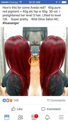 New Strawberry Red Hair Formula 57 Ideas Couleur Aveda, Red Hair Formulas, Strawberry Red Hair, Aveda Hair Color, Dyed Red Hair, Magenta Red Hair, Bright Red Hair, Red Hair Don't Care, Red Hair Tips