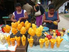 mexican mango flowers JUST ADD A LIL CHILE PEPPER AND WALA!! HEAVEN ON EARTH AHAH MMM TAMARA PERIOD 3
