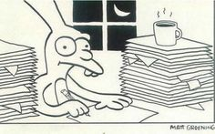 El creador de los Simpsons dibujó para Apple